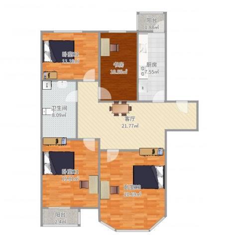 双花园南里二区5-2-1021室1厅1卫1厨125.00㎡户型图
