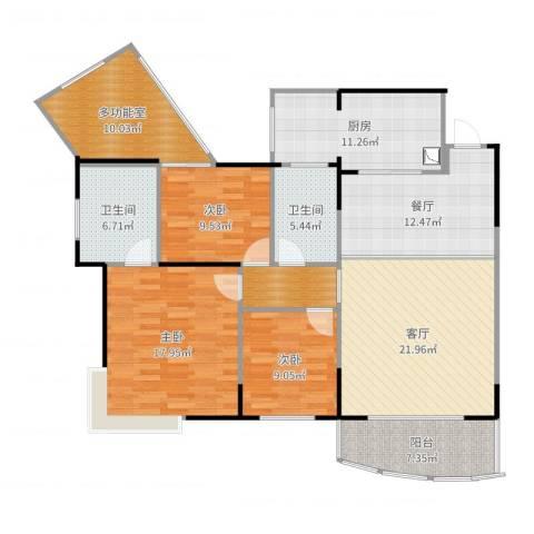 泰和佳园3室2厅2卫1厨144.00㎡户型图