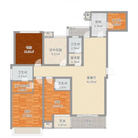 融侨天骏3室2厅3卫1厨190.00㎡户型图