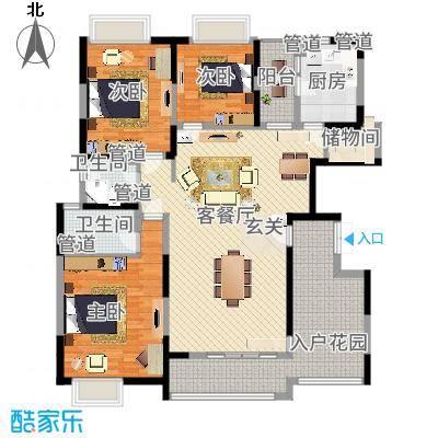 三阳购物中心90.00㎡三阳购物中心3室户型3室-副本