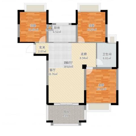 北城名郡3室2厅1卫1厨140.00㎡户型图