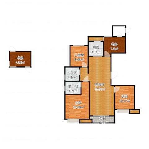 万科金域平江5室2厅5卫1厨125.00㎡户型图