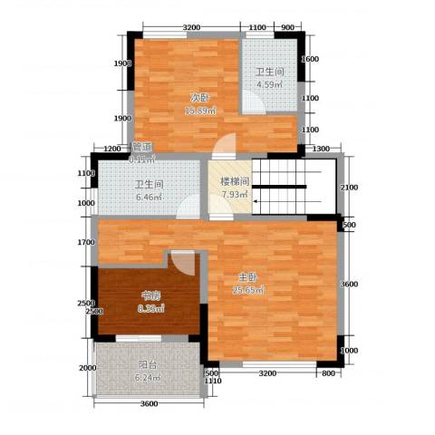 国信金邸世家3室0厅2卫0厨195.00㎡户型图