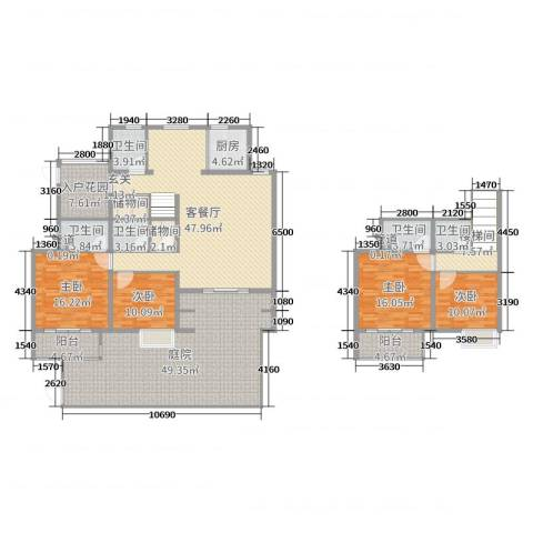 19804室2厅5卫1厨201.36㎡户型图