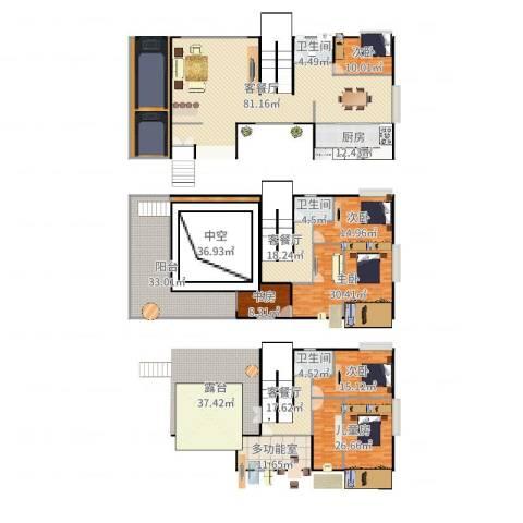 保利云禧6室6厅3卫1厨441.00㎡户型图