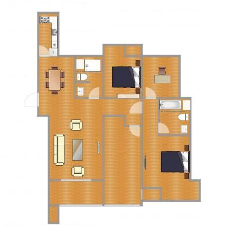 奥克斯盛世缔壹城2室1厅6卫1厨141.00㎡户型图