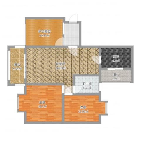 世隆华都2室2厅1卫1厨110.00㎡户型图