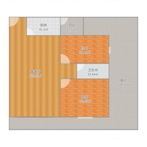水禾园三期2室2厅1卫1厨1220.00㎡户型图