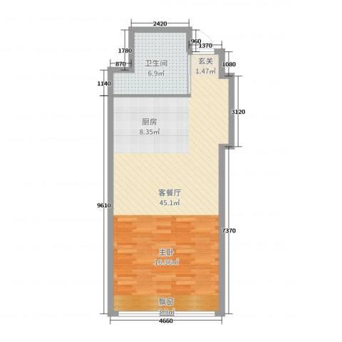 兴泰东河湾2厅1卫0厨65.00㎡户型图