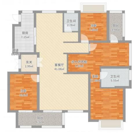 农房檀府3室2厅2卫1厨145.00㎡户型图