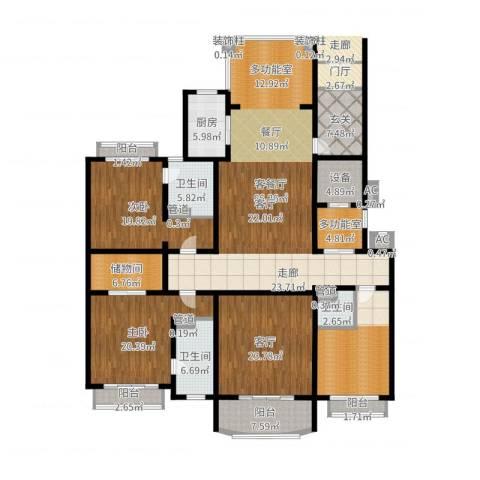 荣禾曲池东岸2室2厅3卫1厨261.00㎡户型图