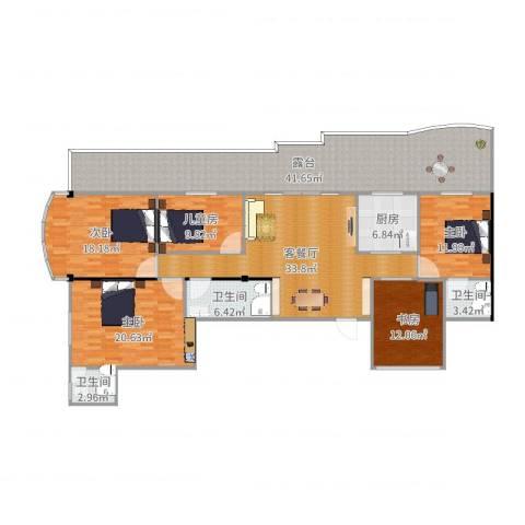 祥云公寓5室2厅3卫1厨210.00㎡户型图