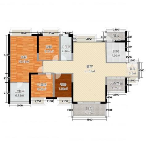 珑・翠4室1厅2卫1厨163.00㎡户型图