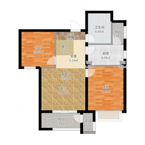 新松・茂樾山2室2厅1卫1厨93.00㎡户型图