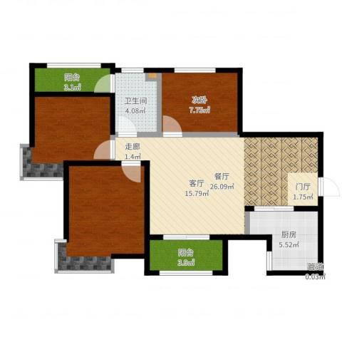 中华世纪城马上1室1厅1卫1厨92.00㎡户型图