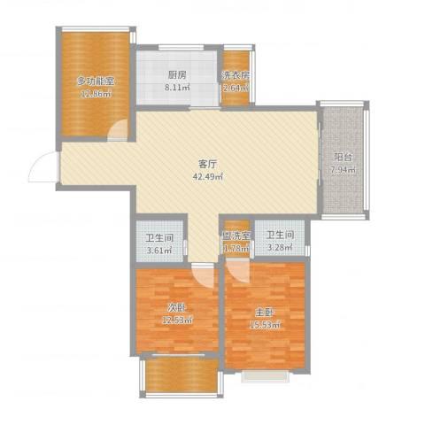 高教公寓12号楼13012室1厅2卫1厨115.32㎡户型图