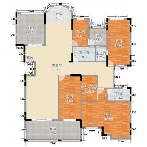 劲嘉金棕榈湾3室2厅3卫0厨265.00㎡户型图