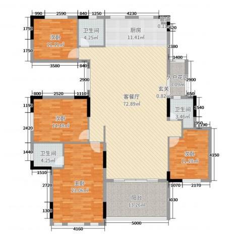 劲嘉金棕榈湾4室2厅3卫0厨192.00㎡户型图