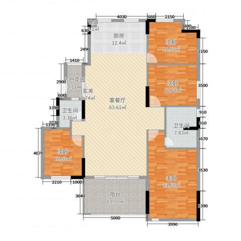劲嘉金棕榈湾4室2厅2卫0厨179.00㎡户型图