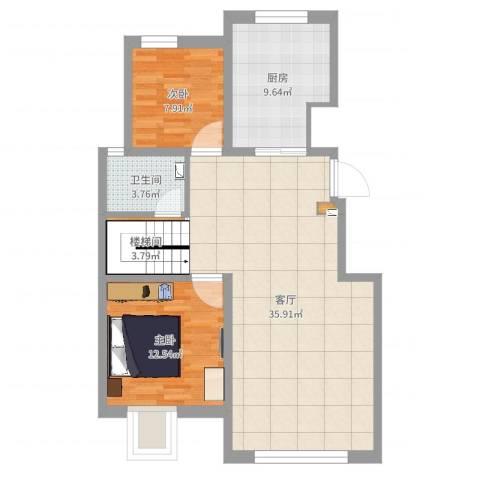 保利罗兰公馆102室1厅1卫1厨93.00㎡户型图