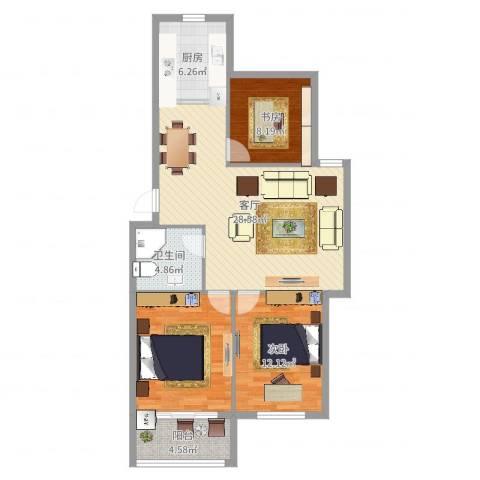 江东新世纪2室1厅1卫1厨77.95㎡户型图