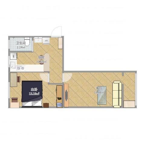 八角中里1室1厅1卫1厨55.00㎡户型图