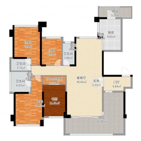 绿岛湖壹号3室2厅3卫1厨195.00㎡户型图