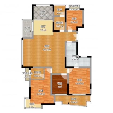 下沙文汇苑4室1厅2卫1厨175.00㎡户型图