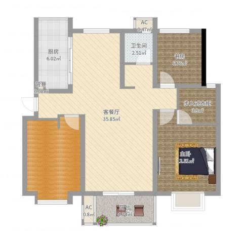 紫晶广场2室2厅1卫1厨108.00㎡户型图