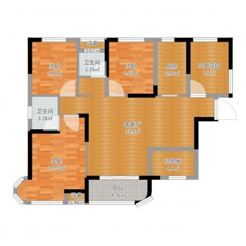 润和之悦4室2厅5卫1厨119.00㎡户型图