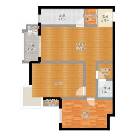 万科东第1室2厅1卫1厨99.00㎡户型图