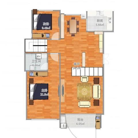 溪湖春天11栋2单元1012室1厅1卫1厨136.00㎡户型图