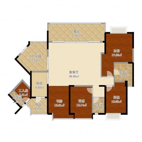 仁和春天国际花园1室2厅3卫1厨193.00㎡户型图