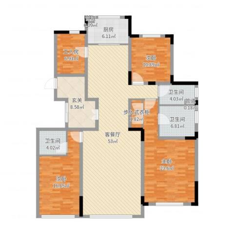 长春壹号院3室2厅3卫1厨179.00㎡户型图