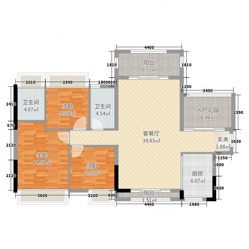名德・幸福里126.00㎡10栋04户型3室3厅2卫1厨