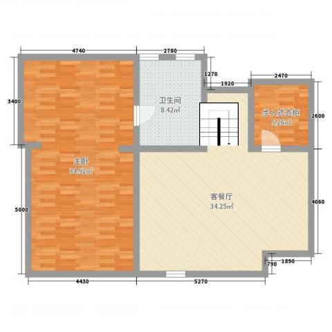 普罗旺斯1室2厅1卫0厨150.00㎡户型图
