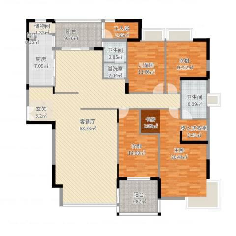 亚洲广场4室4厅2卫1厨213.00㎡户型图