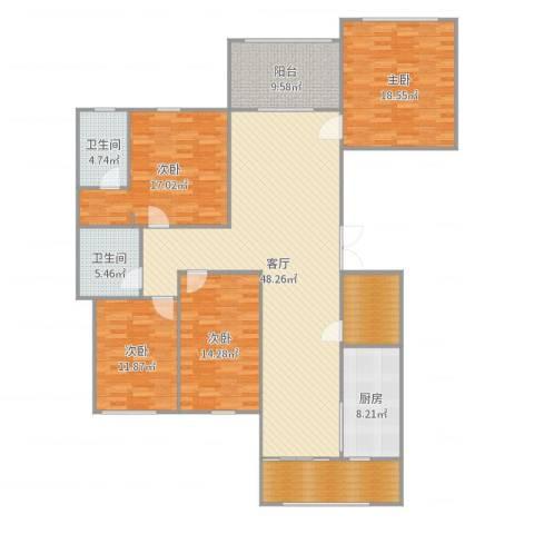 保亿・风景御园4室1厅2卫1厨189.00㎡户型图