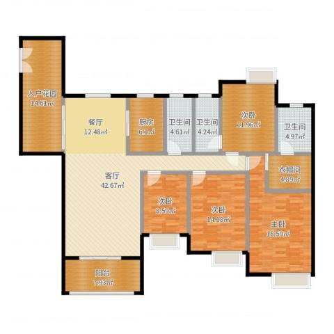 勒水名筑4室1厅3卫1厨179.00㎡户型图
