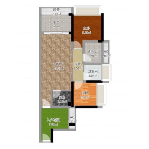 畔山名居・特区青年2室1厅1卫1厨85.00㎡户型图