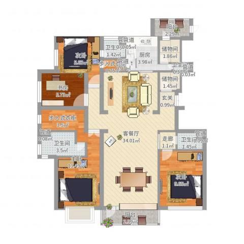 星海国宝4室2厅4卫1厨112.00㎡户型图