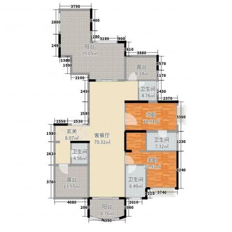 雅居乐御龙山2室2厅4卫0厨261.00㎡户型图