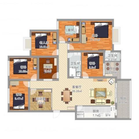怡园洋房7室2厅2卫1厨180.00㎡户型图