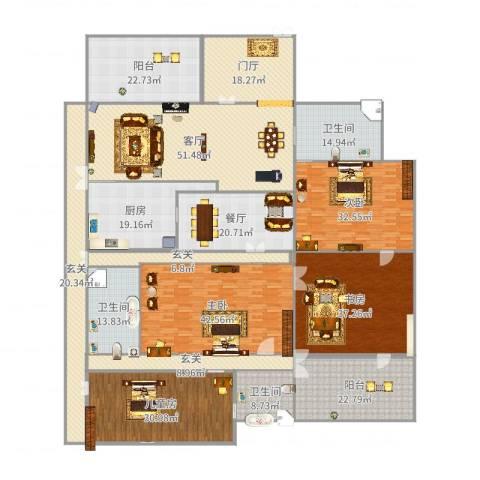 中建大公馆4室2厅3卫1厨465.00㎡户型图