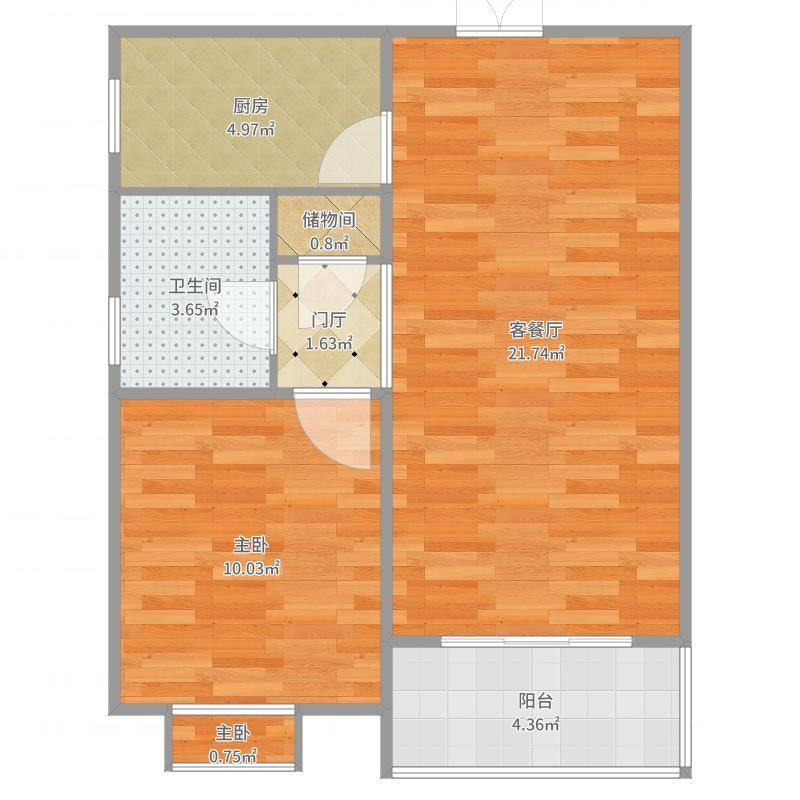 新虹桥首府1室1厅1卫69.13平米