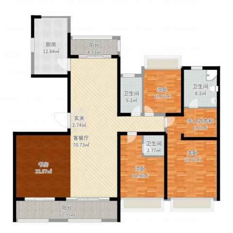 路劲天御3室2厅3卫1厨213.00㎡户型图