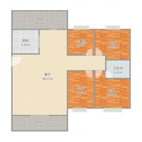 翡翠山河4室1厅1卫1厨207.00㎡户型图