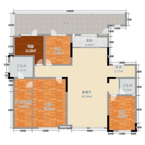 万晟清华园4室2厅2卫1厨215.00㎡户型图