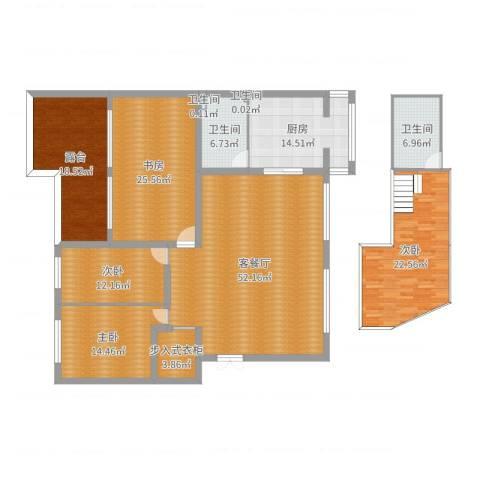 金穗花园4室2厅4卫1厨222.00㎡户型图