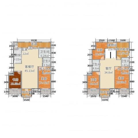 跃界5室3厅4卫1厨270.00㎡户型图